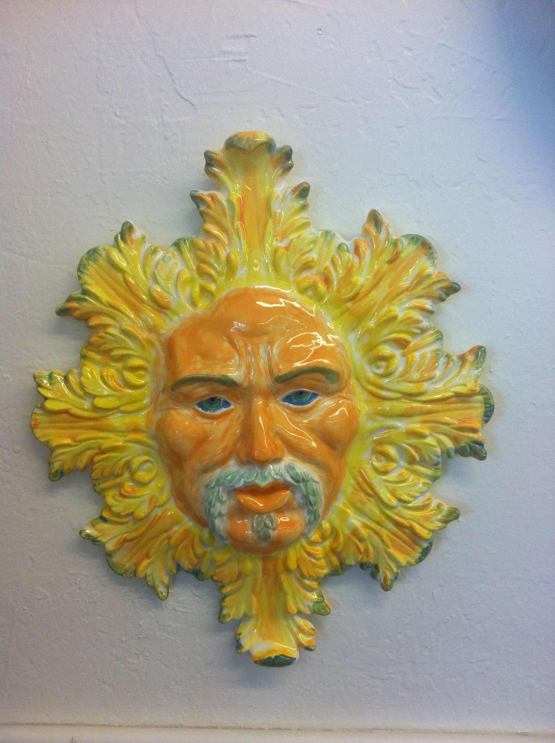 Helios the sun God. Turned out beautiful. | Ceramics made elsewhere ...