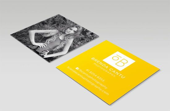 Cool Examples Of Square Sized Business Cards Square Business Cards Business Card Design Cards