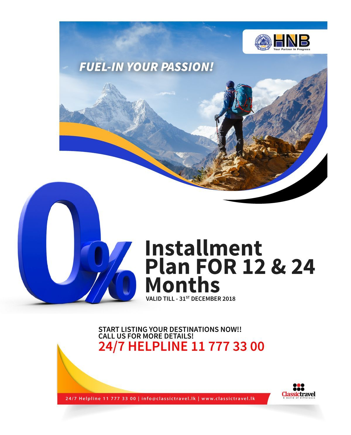 0 installment plans on travel for 12 18 24 months with