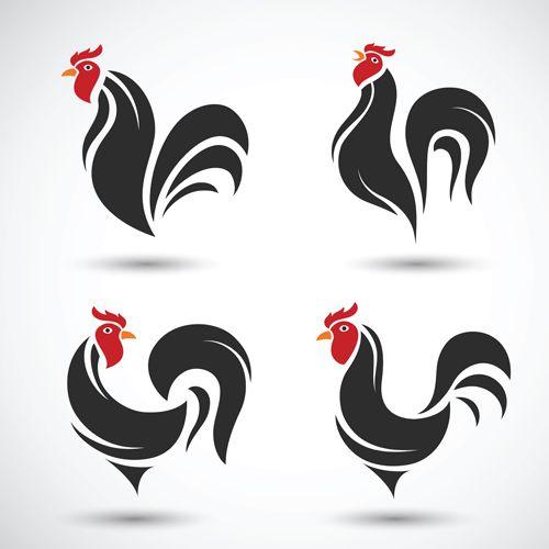 Creative chicken logos vector design 10 - https://www.welovesolo ...