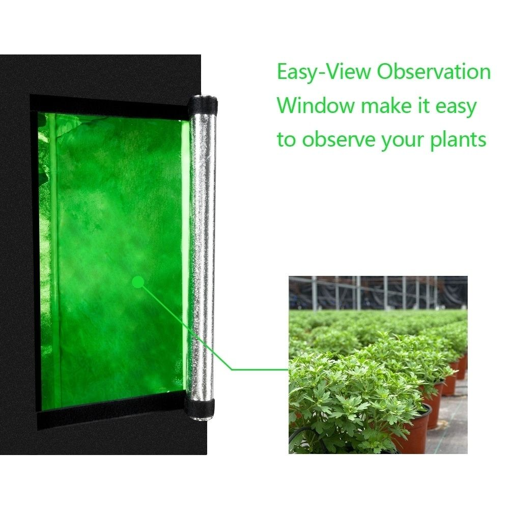 60 60 120cm Use Dismountable Hydroponic Plant Growing Tent With Window Silver Gardening In 2020 Grow Tent Hydroponics Tent Room