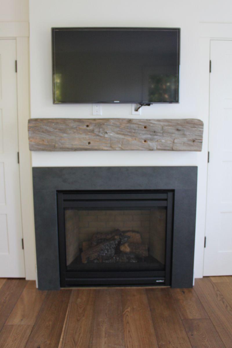 Black Slate Surround Stone Fireplace Surround Modern Farmhouse