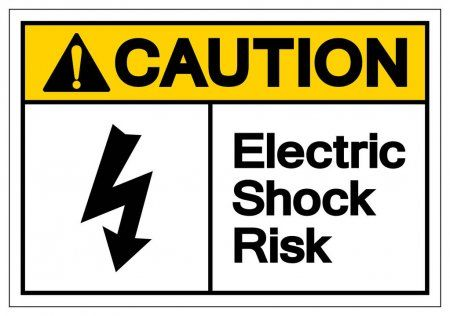 Caution Electric Shock Risk Symbol Sign Vector Illustration Isolate On White B