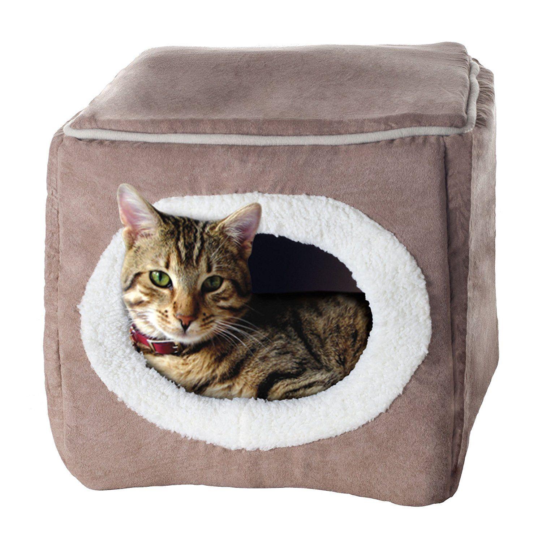 PETMAKER Enclosed Cube Pet Bed Pet Supplies