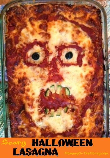 Halloween Lasagnas - Skull and Scary Face
