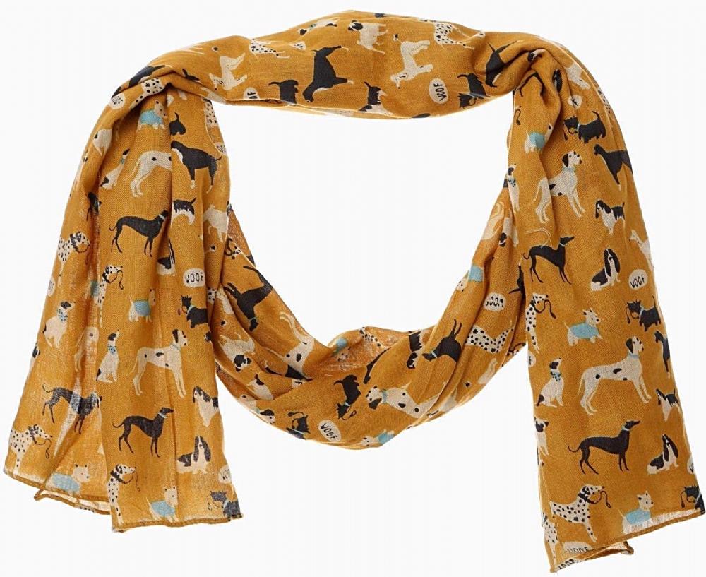 Labrador Retriever Golden Yellow Cream Scarf Wrap Shawl Cotton Dog Lovers Gift