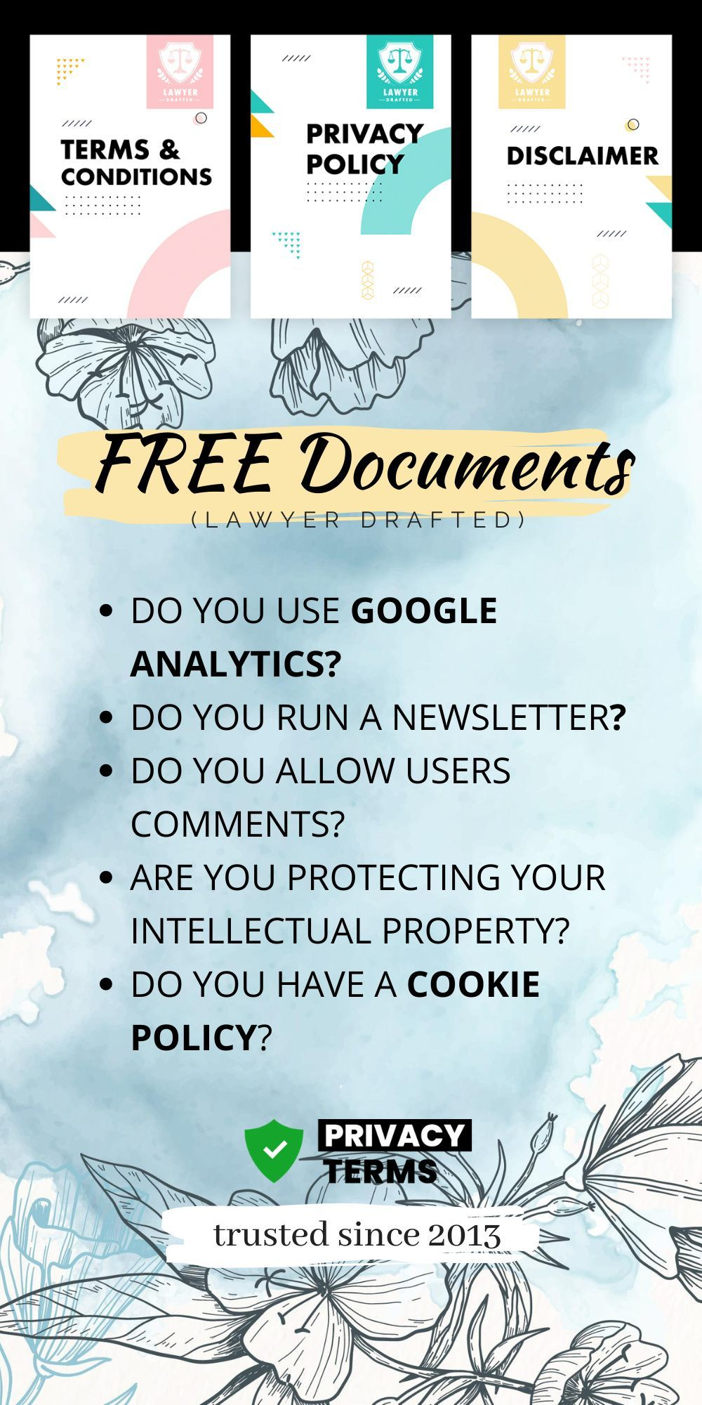 Privacy Policy Generator Comply With Data Protection Laws Blogging Essentials Offer And Acceptance Legal Contracts
