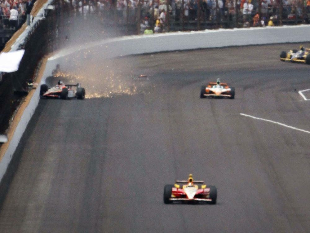 2011 leading the 100th anniversary indianapolis 500 on the final lap rh pinterest com