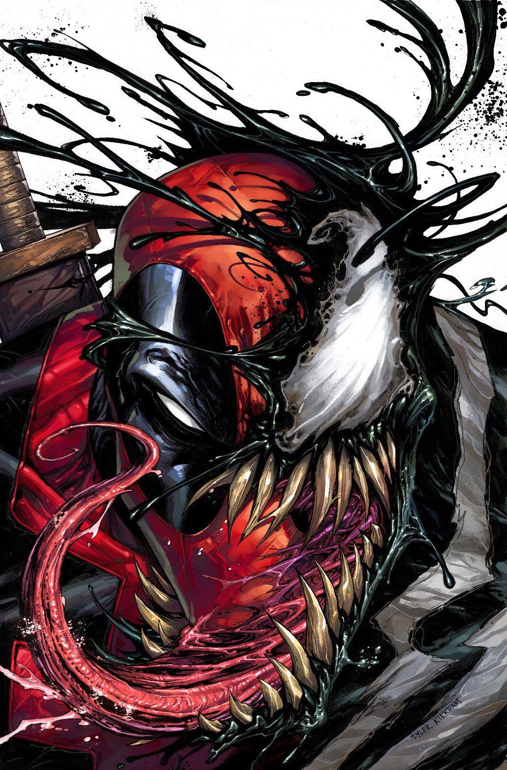 Deadpool Venom by Tyler Kirkham | Superheroes and Super Villians ...