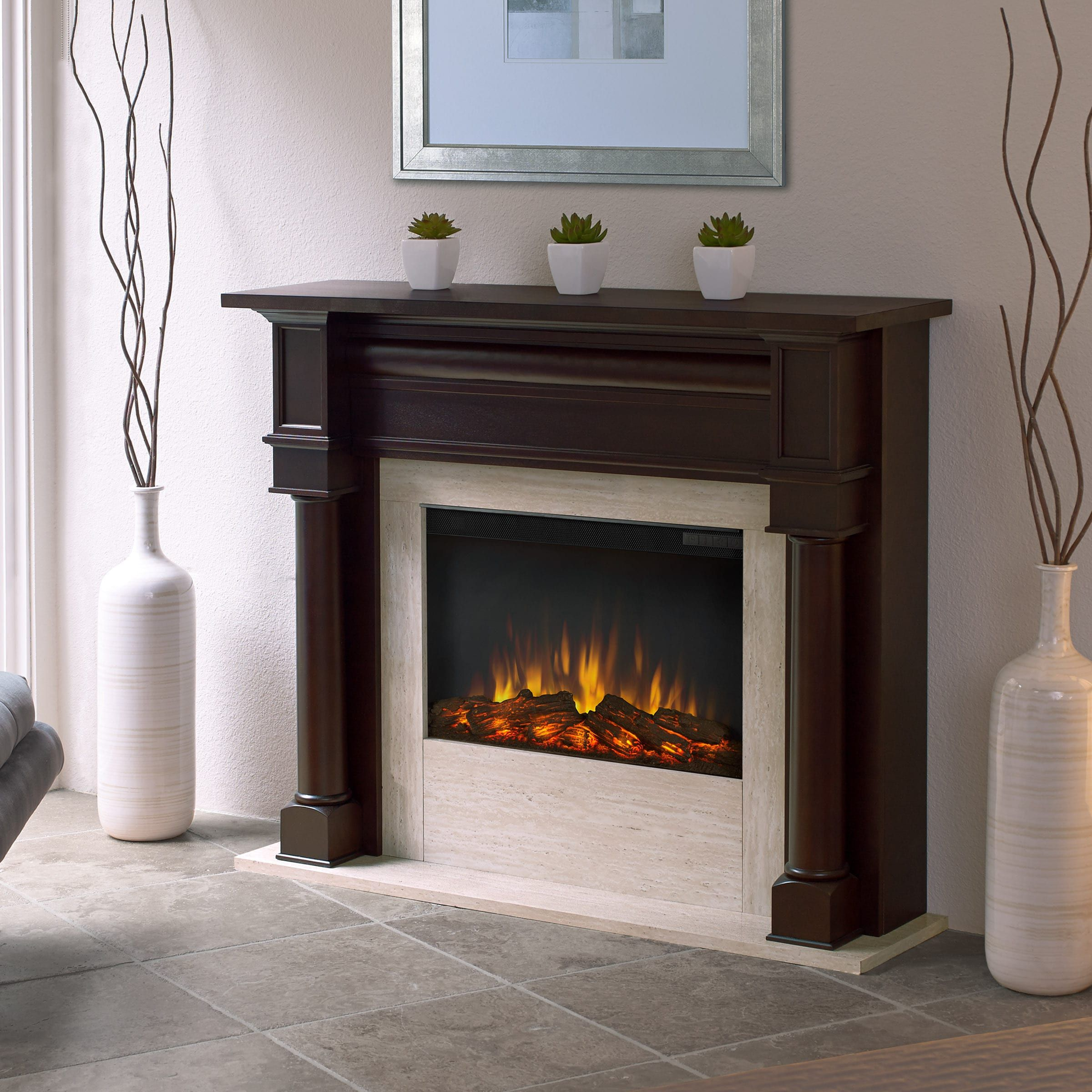 real flame berkeley dark walnut 47 in l x 12 3 in d x 40 1 in h