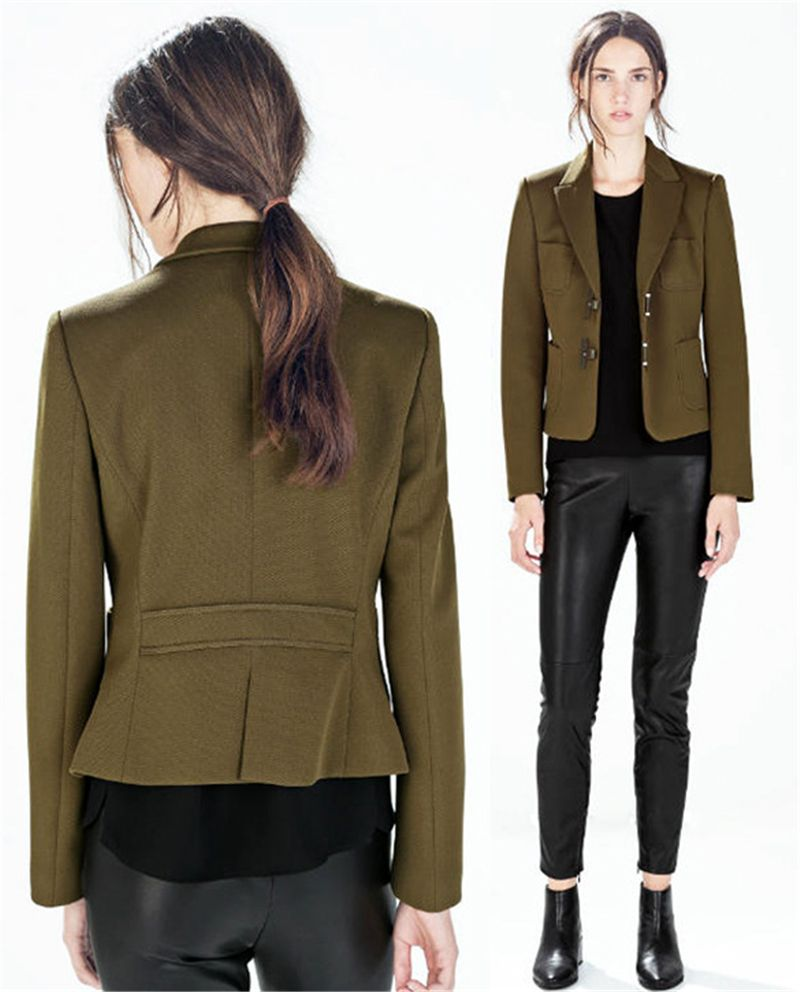 Women Spring Jackets 2015 Womens Military Jackets And Coats Army Green Long Sleeve Woman Clothes Slim Famale Coat Outwear [ 992 x 800 Pixel ]