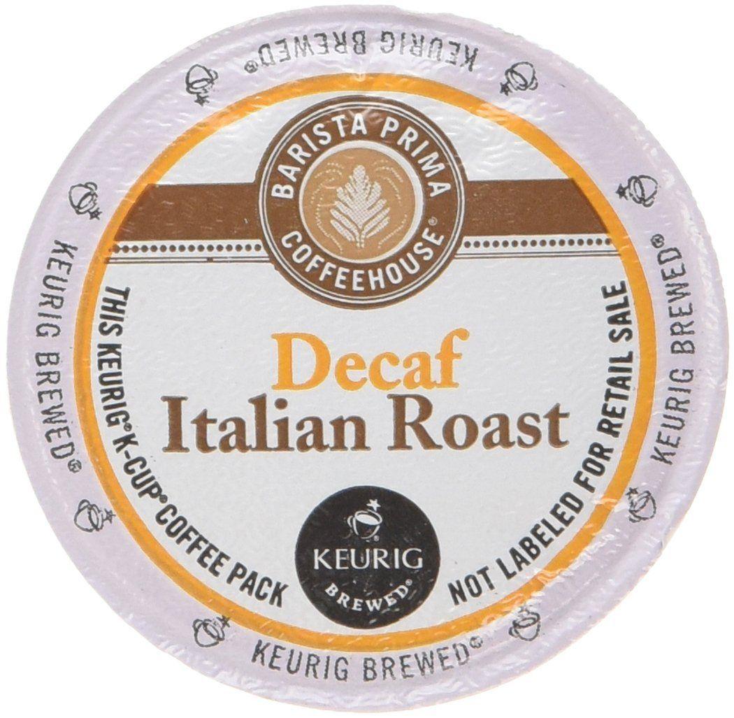 Barista prima coffee decaf italian 1 box of 24 kcups