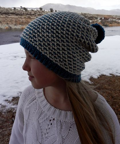 Tunisian Honeycomb Reversable Hat Pattern By Kismet Crochet