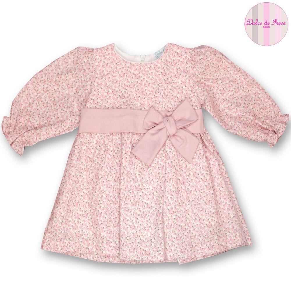 Vestido viyela florecitas rosas   Flor, Vestiditos y Bebé