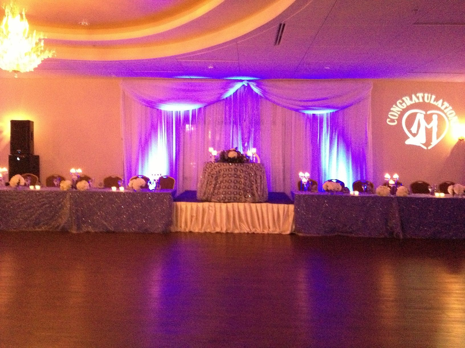 Beautiful pipe and drape for head table, sweetheart table set a ...