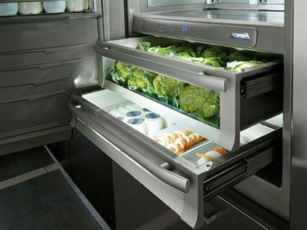 trendige-Kühlschränke-mit-Schubladen-Küche-Idee küche Pinterest