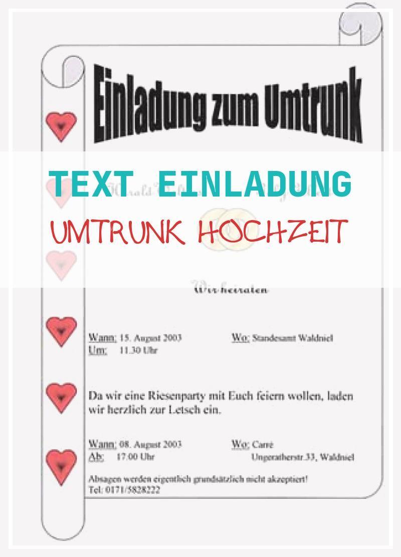 Primairet 20 Text Einladung Umtrunk Hochzeit