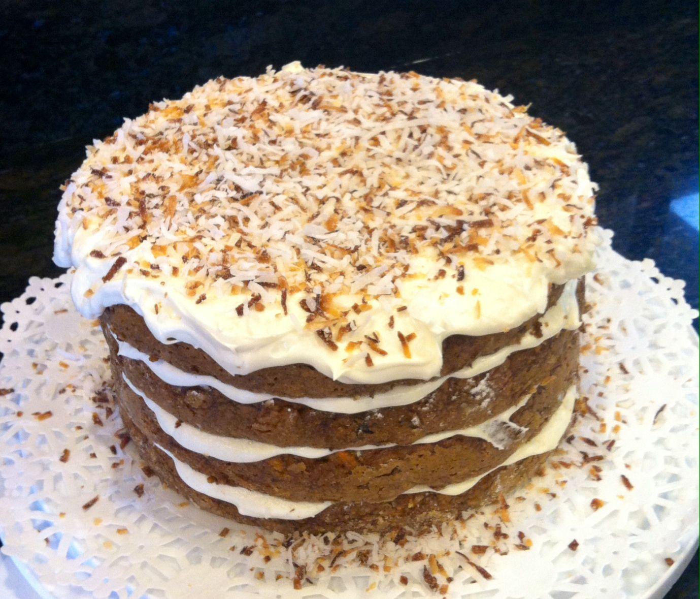 Gluten Free Carrot Pineapple Coconut Cake Used Ina Garten