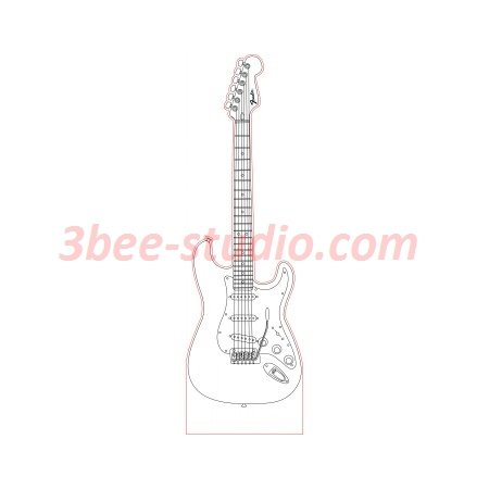 Fender Stratocaster Guitar 3d Illusion Lamp Plan Vector File For Laser And Cnc 3bee Studio In 2020 3d Illusions 3d Illusion Lamp Stratocaster Guitar