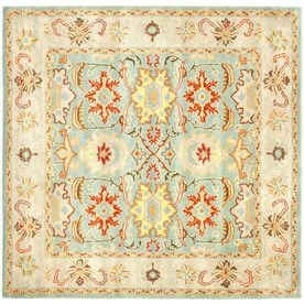 Safavieh Heritage Square Blue Transitional Tufted Wool Area Rug Common 8 Ft X