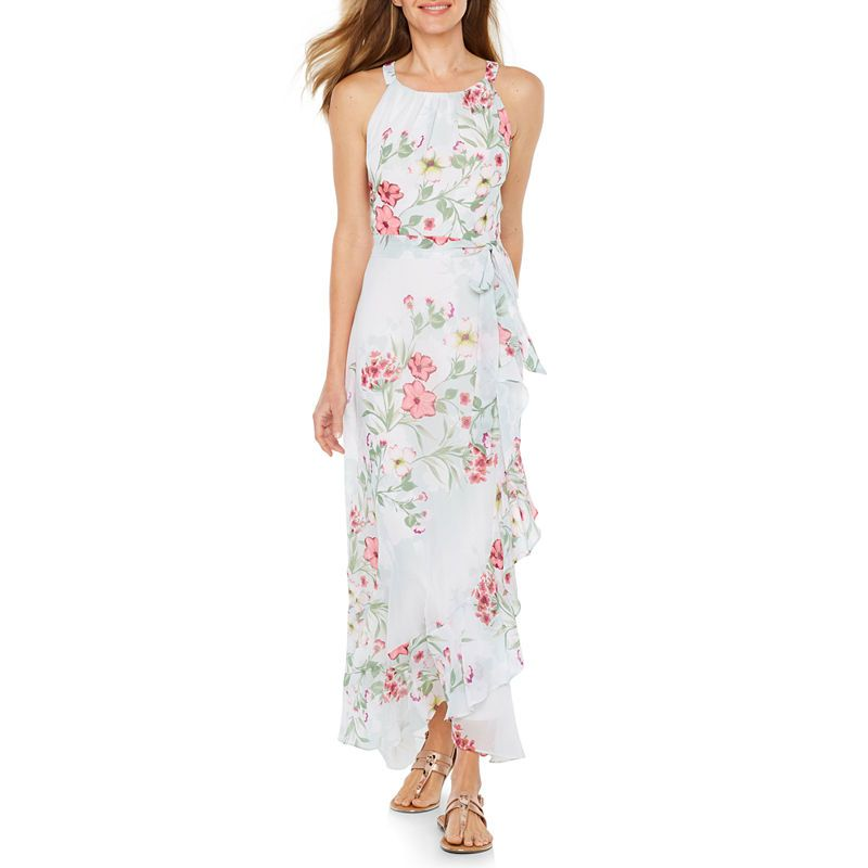 R & K Originals Sleeveless Floral Maxi Dress | summer wedding dress ...
