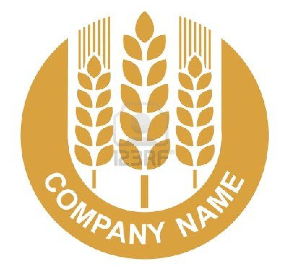 Wheat Sign Badge Design Badge Design Vector Logo Hand Art Drawing