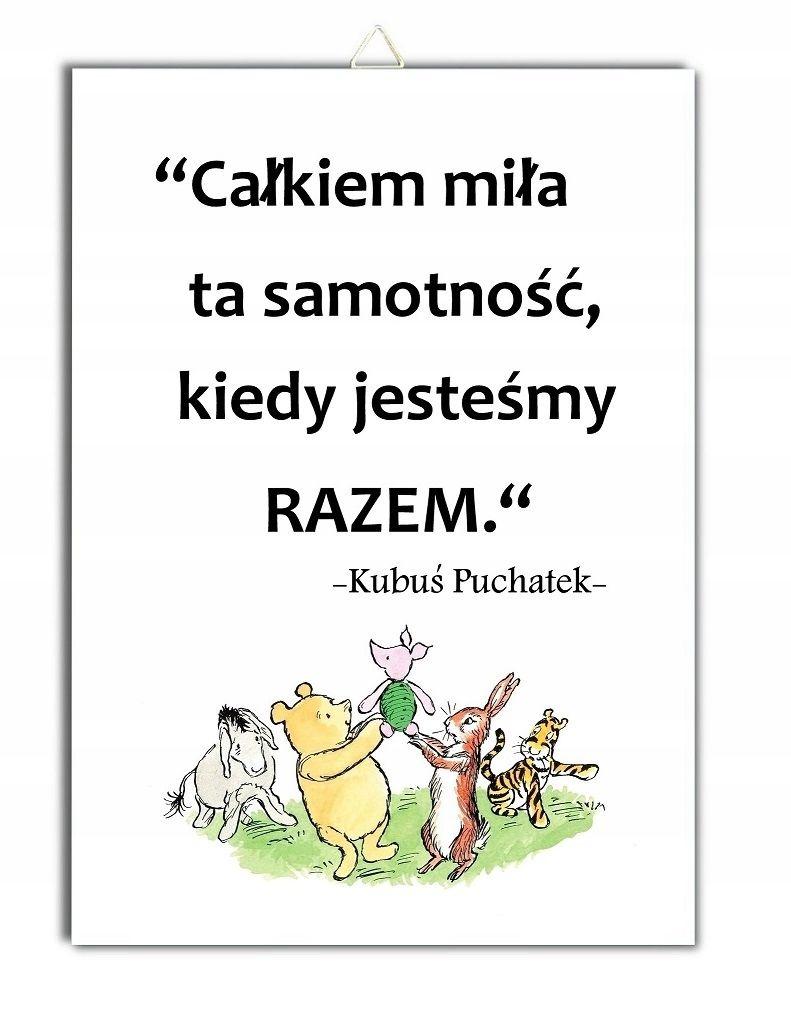 Tabliczka Kubus Puchatek Cytat Napis Prosiaczek Friendship Quotes Thoughts Quotes Quotations