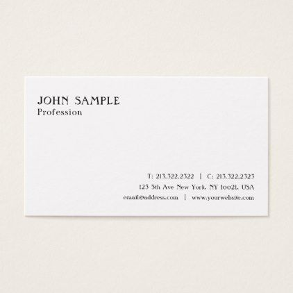 Create your own clean white plain stylish modern business card create your own clean white plain stylish modern business card simple clear clean design style reheart Gallery