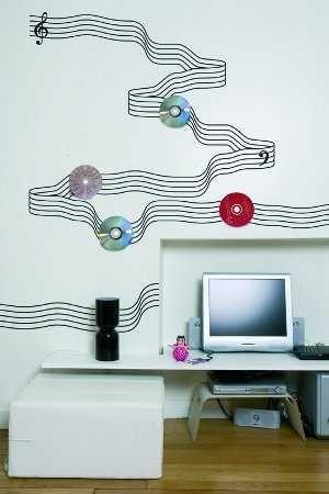 Cómo decorar mi habitación con CDu0027s Paredes - Decora Ilumina