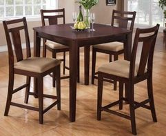 Dining 150150 5 Piece Espresso Pub Table Set by Coaster - Coaster - Pub Table and Stool Set & Coaster 150159 5 PC SET | Home Improvement Projects | Pinterest ...