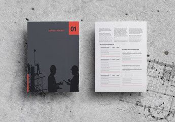 Minimalist Annual Report Layout , #spon, #Annual, #Minimalist, #Layout, #Report #Ad #annualreports