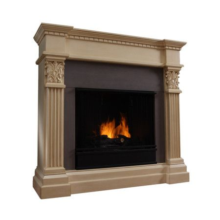 Gel Burning Fireplace With A Solid Wood And Powder Coated Steel Mantel And Hand Carved Detail Product Gel Fireplace Furniture