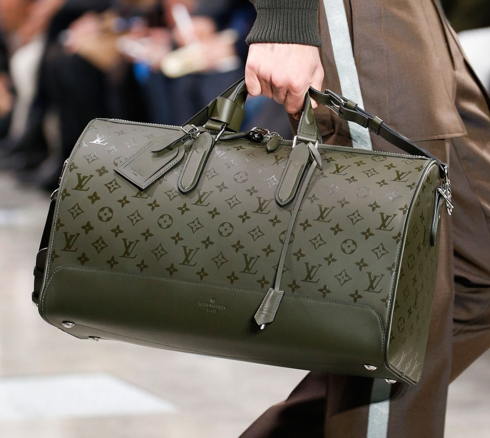 louis vuitton luggage men. louis vuitton debuts new monogram eclipse print at men\u0027s fall 2016 show luggage men