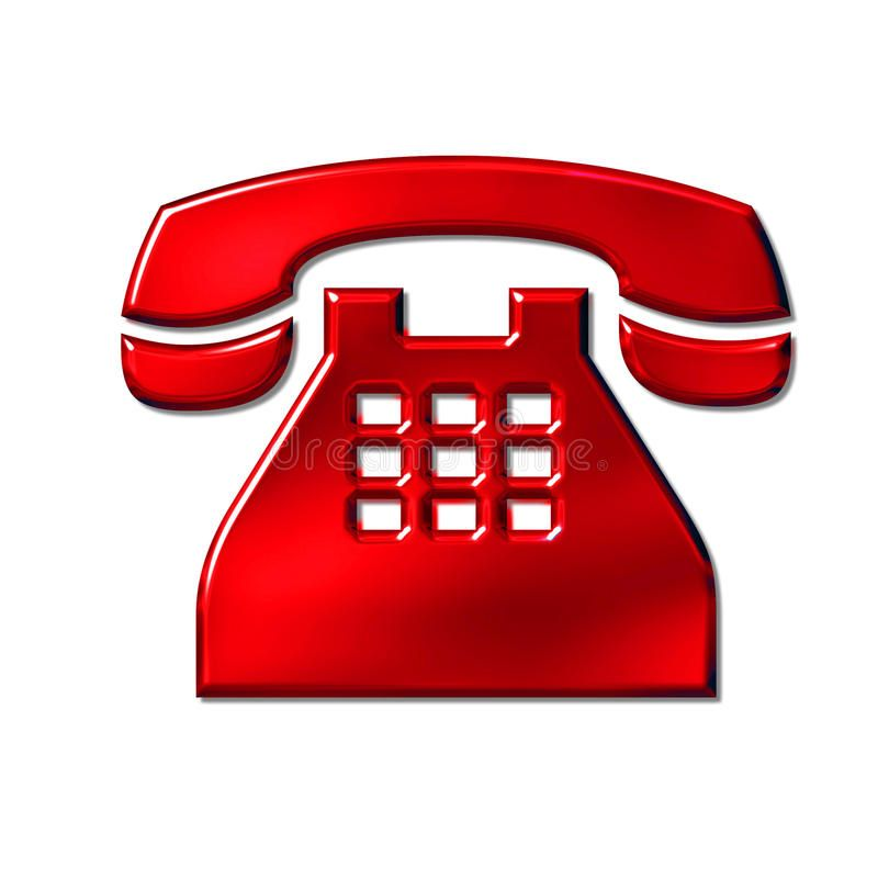 Phone Sign 3d Red Phone Icon Sign On White Sponsored Red Sign Phone White Icon Ad Phone Phone Icon Corded Phone