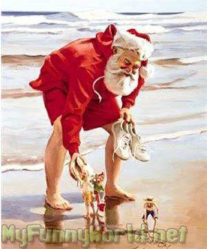 *Beach santa