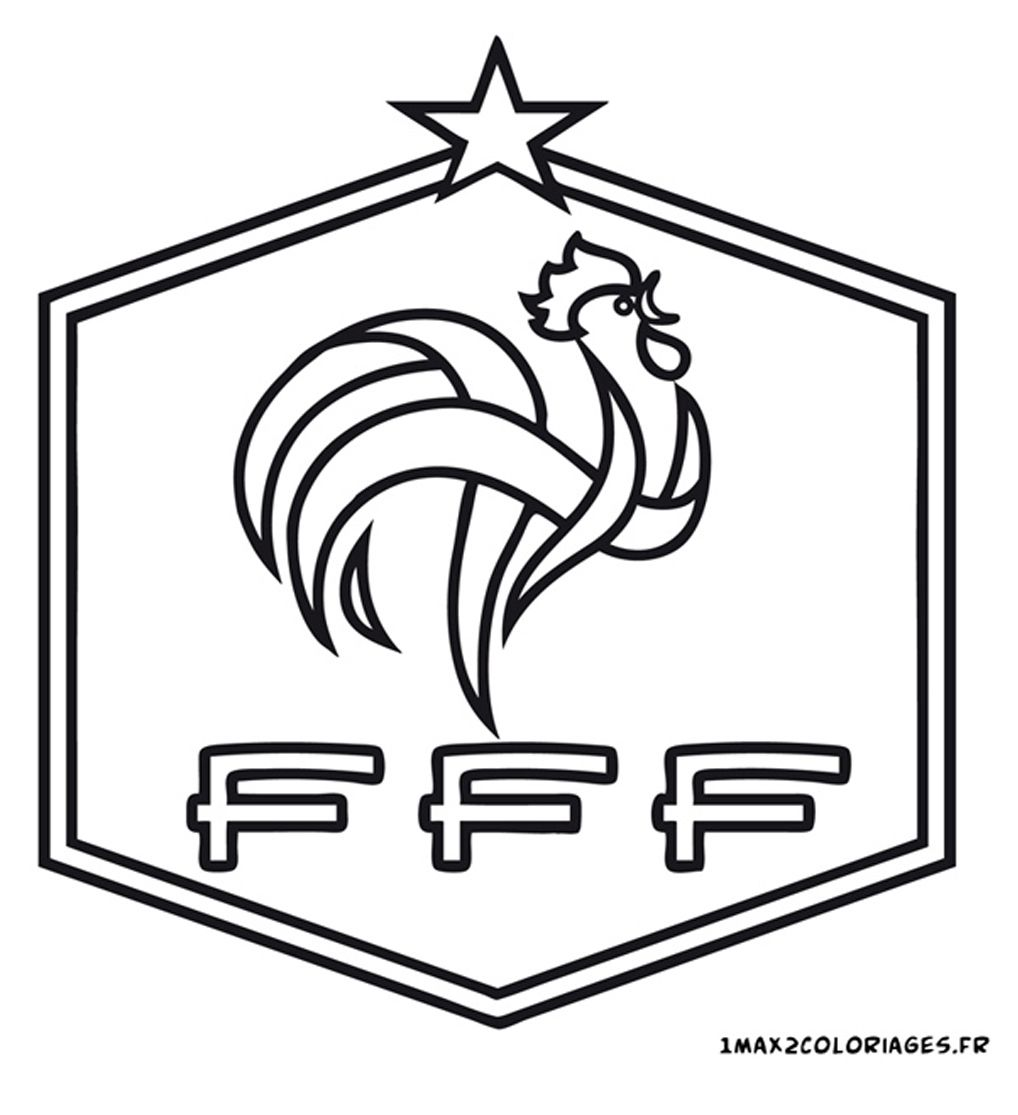 Logo Football France Footlog Coloriage Foot Coloriage