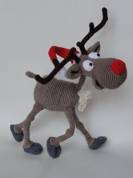 Rudolf das Rentier Amigurumi Häkeln Muster von IlDikko auf Etsy, $6.20, crochet pattern deer