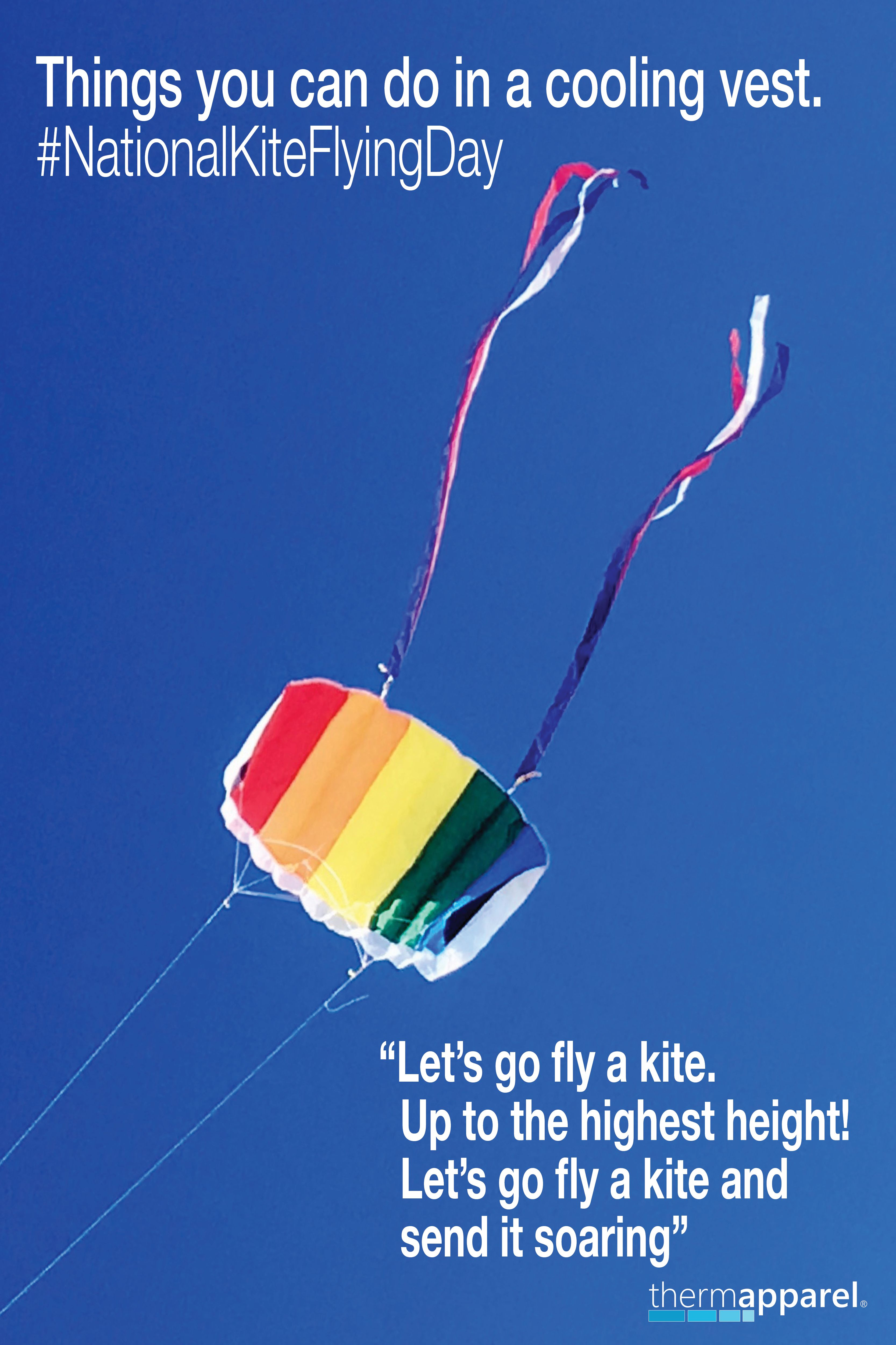 Things I can do in a cooling vest. NationalKiteFlyingDay