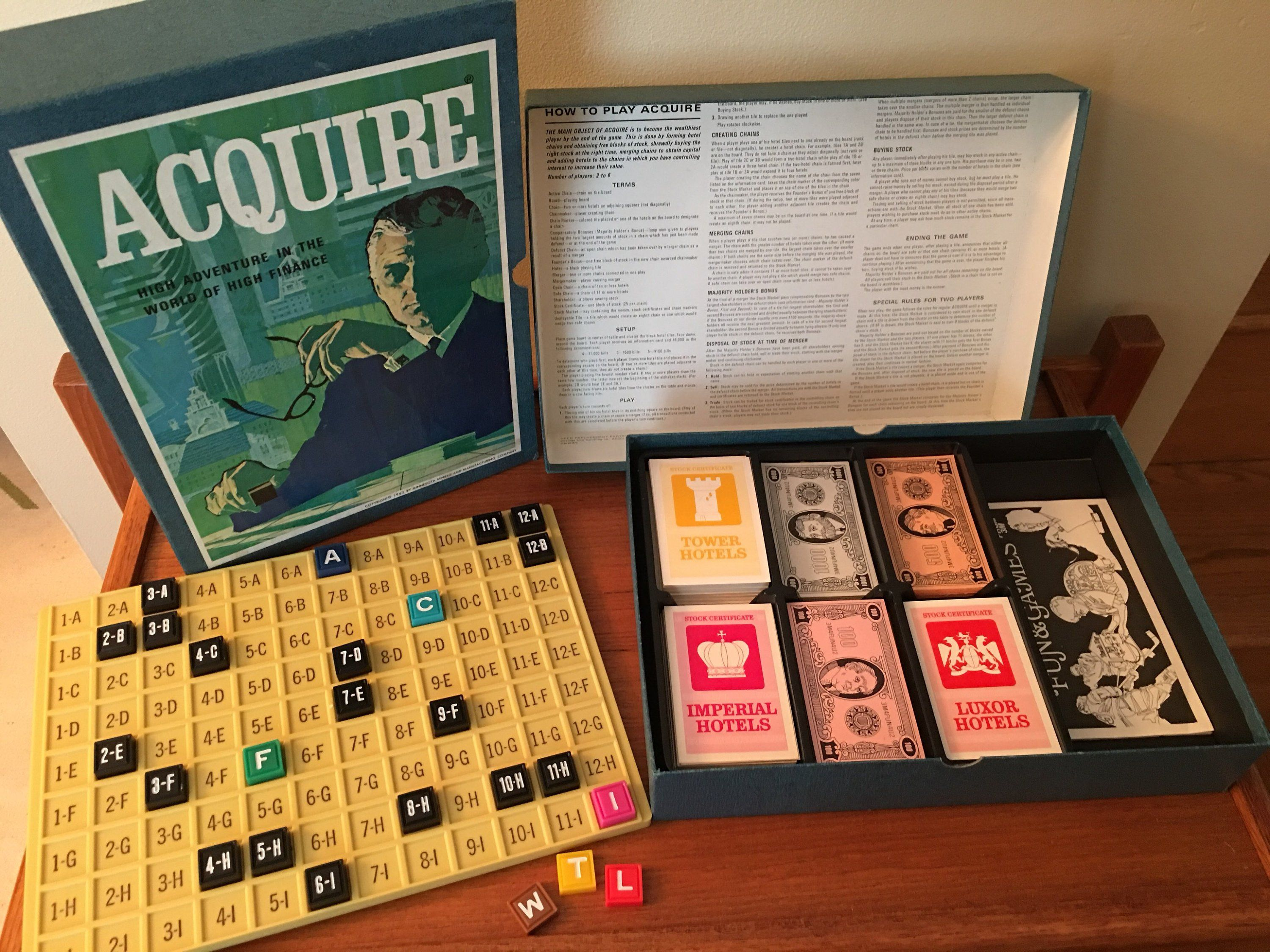 Vintage Acquire Board Game 1960s Board Game Finance and