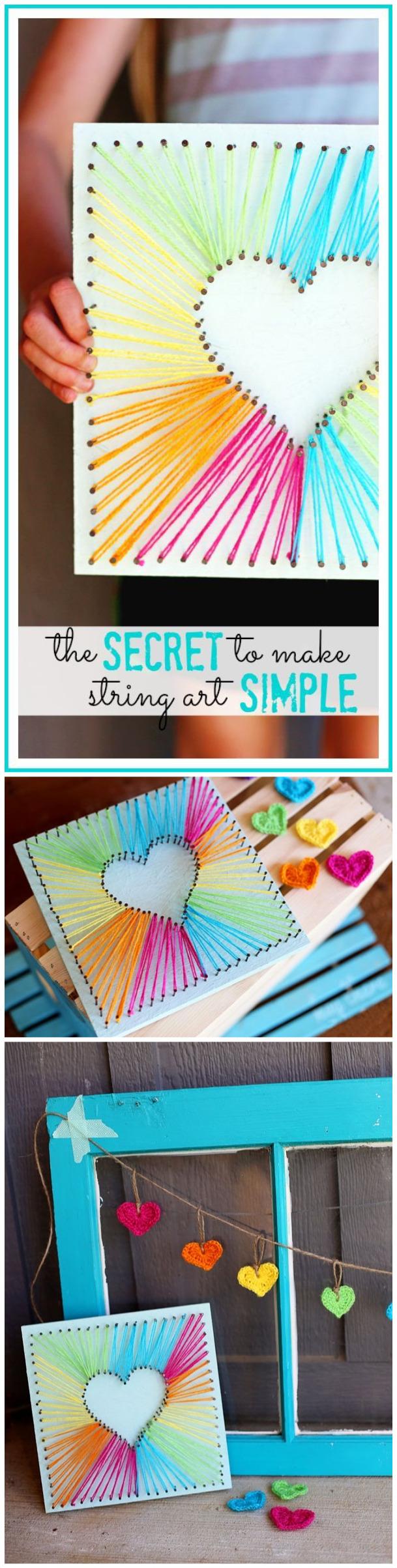 How to Make Lovely DIY Heart String Art - string art | Pinterest ...