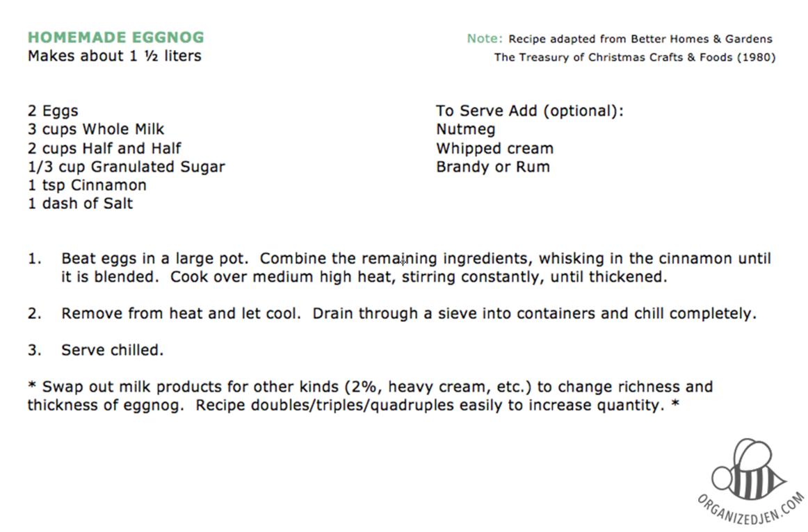 We love eggnog!  Hope you enjoy the recipe :)
