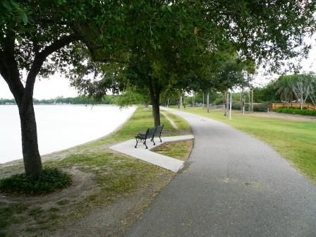 Walking At The Harlingen City Lake It Is Located Next To The