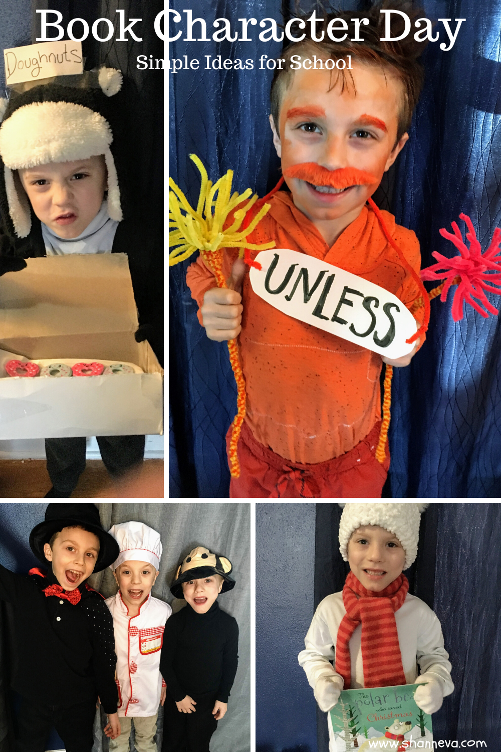 Book Character Day Simple Costumes For School Shann Eva S Blog Book Character Day Teacher Book Character Costumes Book Character Costumes