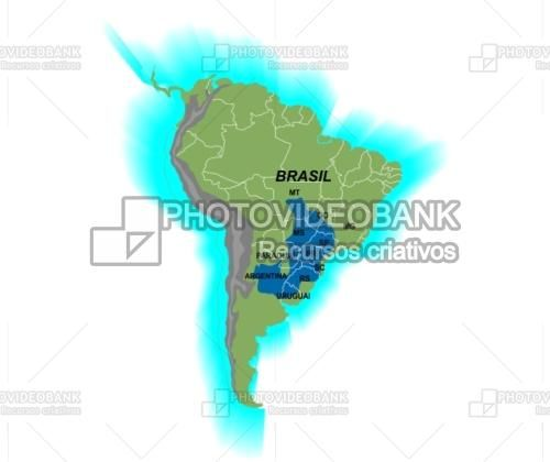 Bacia hidrogrfica rio Paran Chaco PHOTOVIDEOBANK Download vector