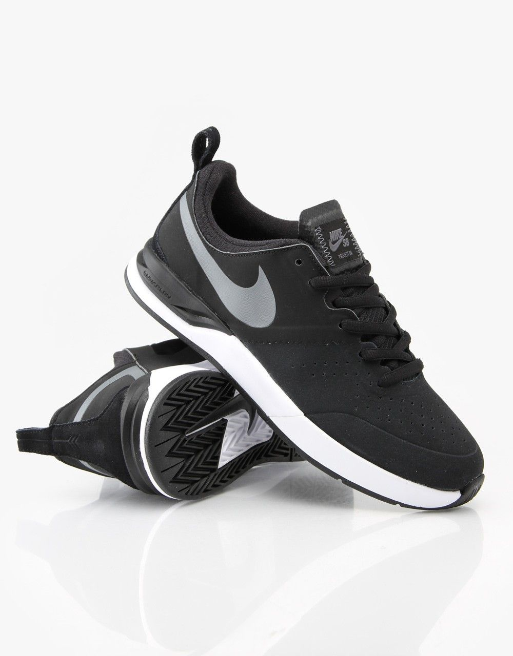 ca21aac9492f Nike SB Project BA Skateboarding Shoes - Black Dark Grey White -  RouteOne.co.uk