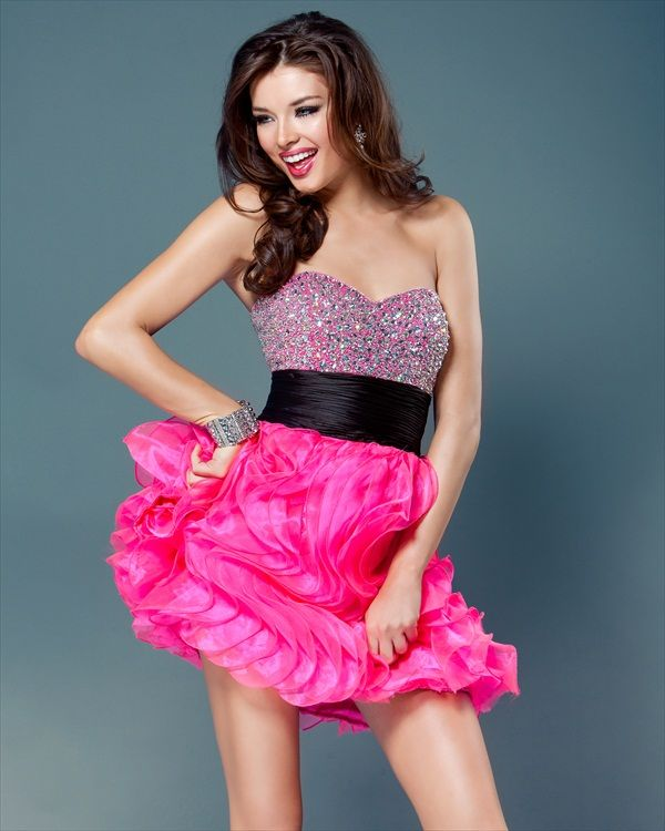 Hot Pink Short Prom Dresses - Ocodea.com