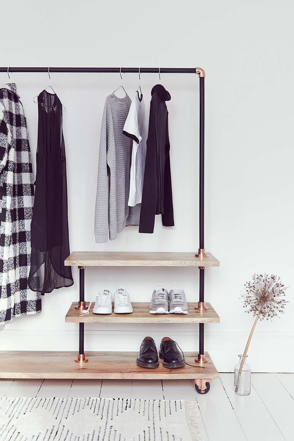 iron and wood clothes rack clothes racks iron and woods. Black Bedroom Furniture Sets. Home Design Ideas