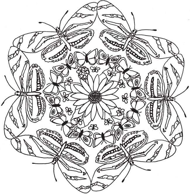 Welcome to Dover Publications Nature Kaleidoscope Coloring