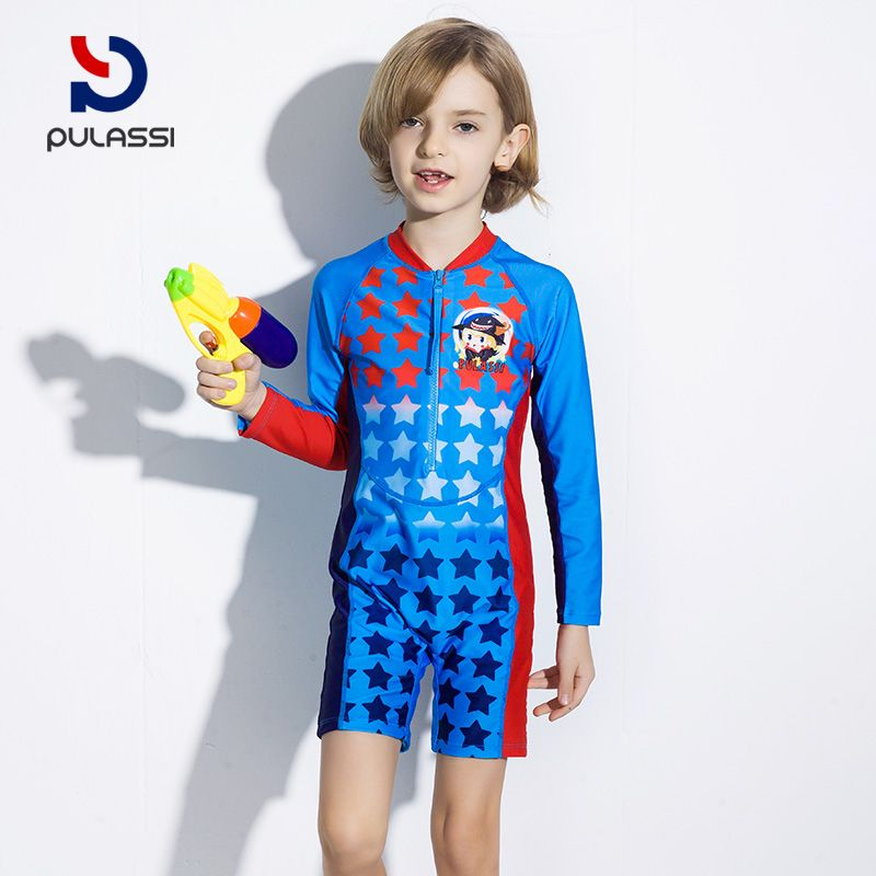 c5d5a0539d Plasch baby swimsuit, baby boy, Korean student swimming pool, sports  swimsuit, children's one-piece swimsuit, male