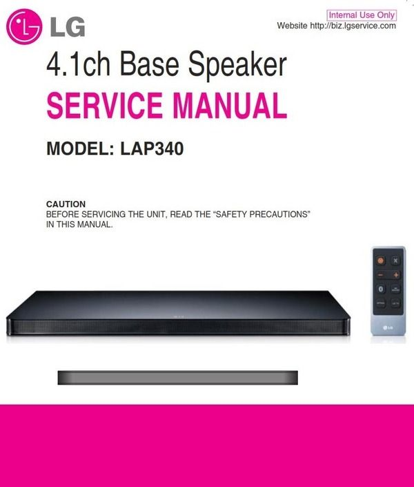 Troubleshooting Guide For All Boards: LG LAP340 Soundplate Service Manual And Repair Guide